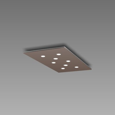 Pop 8-Light Flush Mount Fixture Finish: Mocha/Aluminum