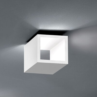 Semi Flush Mount Fixture Finish: White