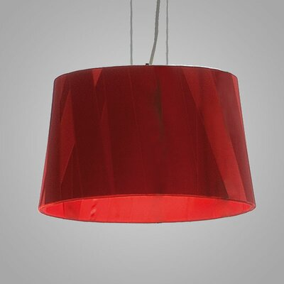 Dress 6-Light Drum Pendant Finish: Red