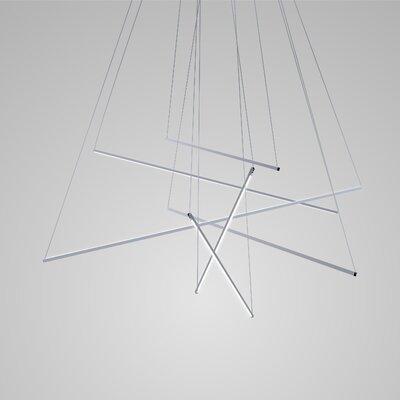 Spillo Geometric Pendant Finish: Chrome