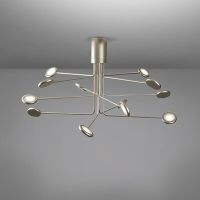 Arbor 12-Light LED Semi Flush Mount Fixture Finish: Gold/Silver