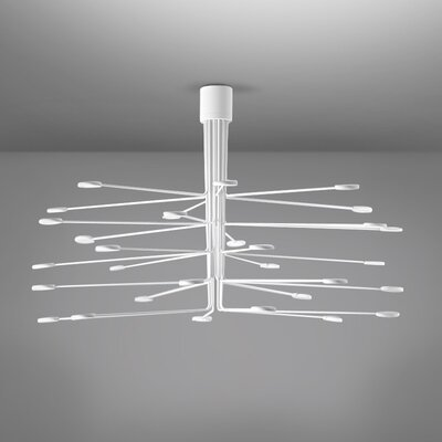 Arbor LED Semi Flush Mount Fixture Finish: White