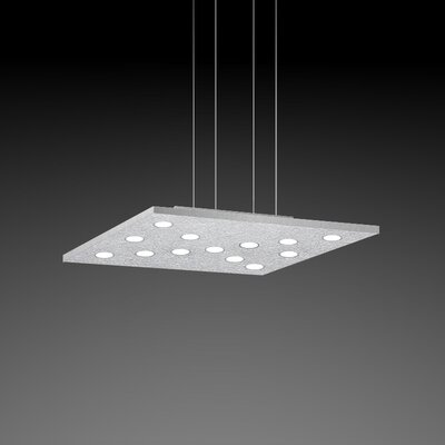 Pop Suspension 11-Light Pendant Finish: Silver Leaf/Aluminum