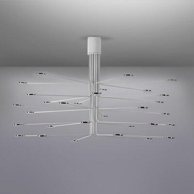 Arbor LED Semi Flush Mount Fixture Finish: White/Aluminum