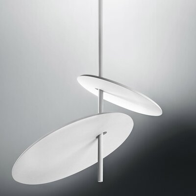 Lua 2-Light LED Geometric Pendant Finish: White