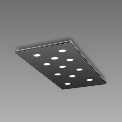 Pop 11-Light Flush Mount Fixture Finish: Black/Aluminum