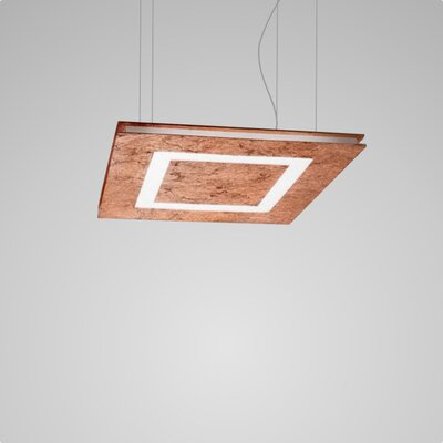 Flat 2-Light LED Geometric Pendant Finish: Copper Leaf