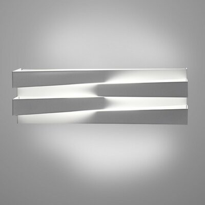 1-Light LED Flush Mount Fixture Finish: White