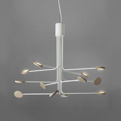 Arbor 12-Light LED Sputnik Chandelier Finish: White/Dove Gray