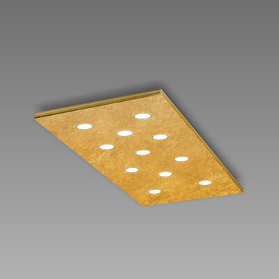 Pop 11-Light Flush Mount Fixture Finish: Gold Leaf/Brushed Gold