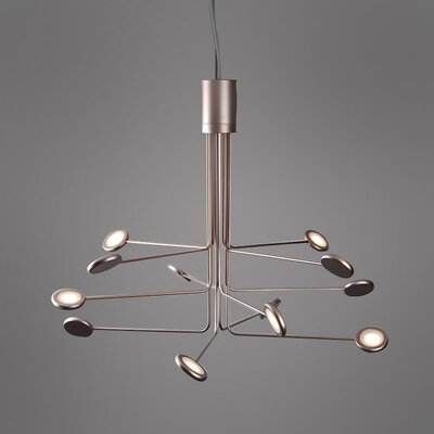 Arbor 12-Light Sputnik Chandelier Finish: Copper/Silver