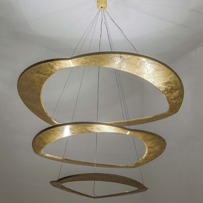 Diadema 1-Light LED Geometric Pendant Finish: Gold Leaf