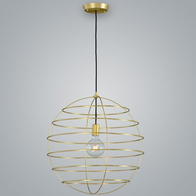 Sphere Suspension 1-Light Globe Pendant Finish: Brass