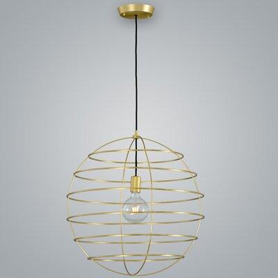 Sphere Suspension Globe Pendant Finish: Brass