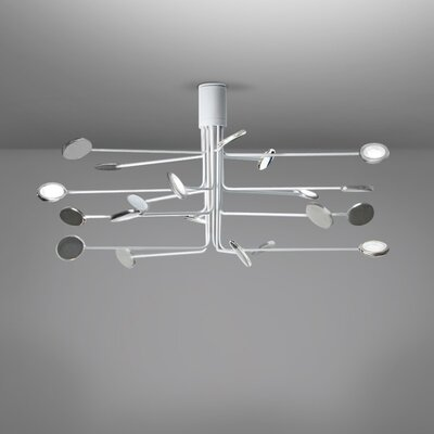 Arbor 20-Light LED Flush Mount Fixture Finish: White/Aluminum