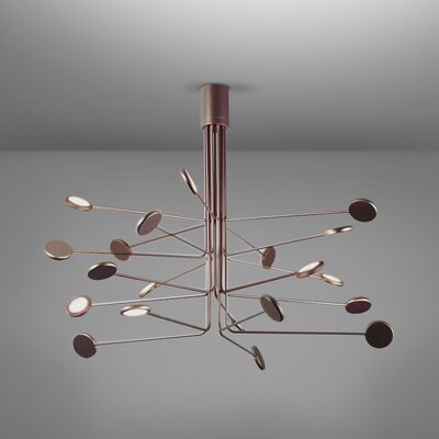 Arbor 20-Light LED Semi Flush Mount Fixture Finish: Copper/Silver