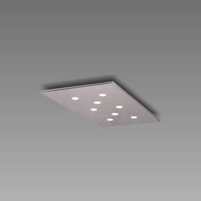 Pop 8-Light Flush Mount Fixture Finish: Copper Silver