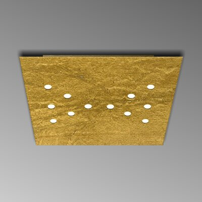 12-Light Flush Mount Fixture Finish: Gold Leaf