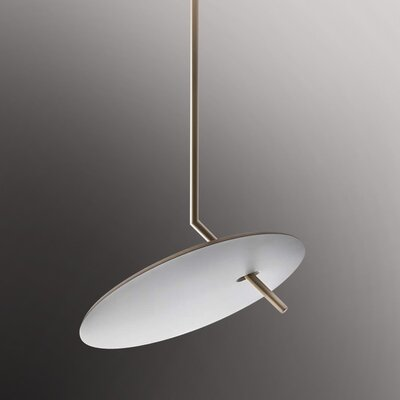 Lua 1-Light LED Pendant Finish: White/Gold Silver