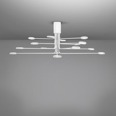Arbor 16-Light LED Semi Flush Mount Fixture Finish: White