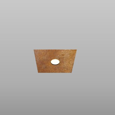 1-Light Flush Mount Fixture Finish: Rust