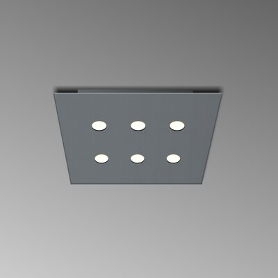 6-Light Flush Mount Fixture Finish: Gray