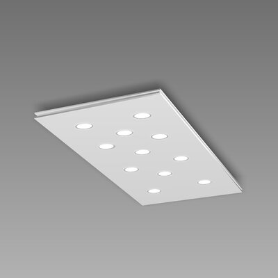 Pop 11-Light Flush Mount Fixture Finish: White