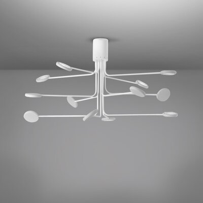 Arbor 12-Light LED Flush Mount Fixture Finish: White