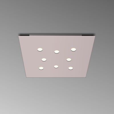 8-Light Flush Mount Fixture Finish: Copper Silver