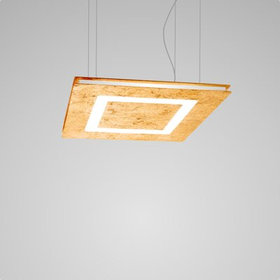 Flat 2-Light LED Geometric Pendant Finish: Gold Leaf