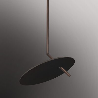 Lua 1-Light LED Pendant Finish: Dark Brown/Copper Silver