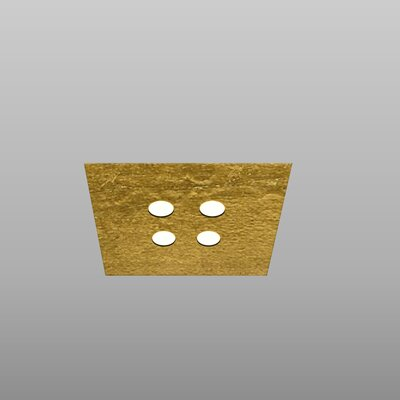 4-Light Flush Mount Fixture Finish: Gold Leaf