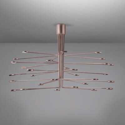 Arbor LED Semi Flush Mount Fixture Finish: Copper/Silver