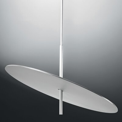 Lua Geometric Pendant Finish: White/Brushed Aluminum, Size: 23.62 H x 23.62 W x 23.65 D