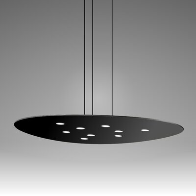 Scudo Suspension 9-Light Pendant Finish: Black