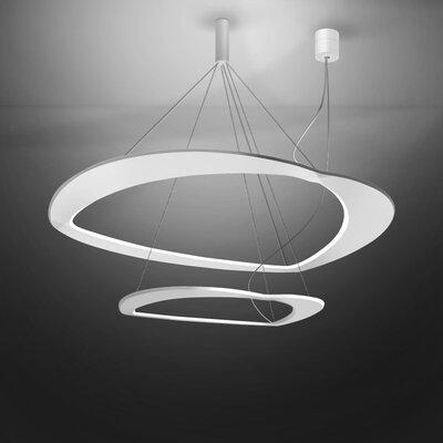 Diadema 1-Light LED Geometric Pendant Finish: White