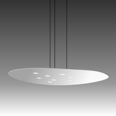 Scudo Suspension 9-Light Pendant Finish: White