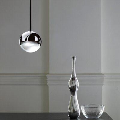 Convivio 3-Light LED Geometric Pendant Finish: Chrome/Transparent Glass