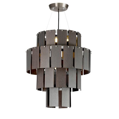 Quarz LED Drum Chandelier Finish: Pewter/Dark Oak