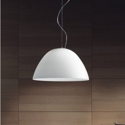 Willy 1-Light Inverted Pendant Shade Color: White