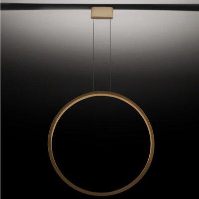 1-Light LED Geometric Pendant Finish: Matte Gold, Size: 27.56 H x 27.56 W x 1.75 D