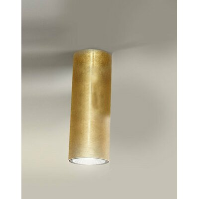 1-Light Flush Mount Finish: Gold Leaf