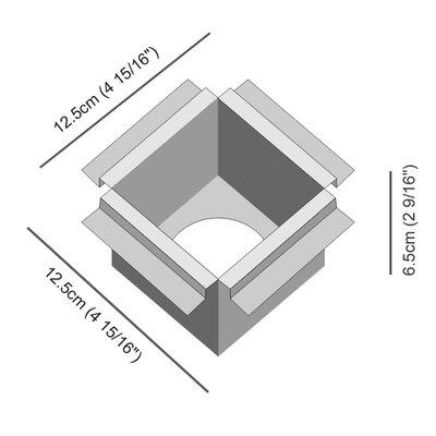 Darma Recessed Housing Size: 2.56 H x 2.75 W x 2.75 D
