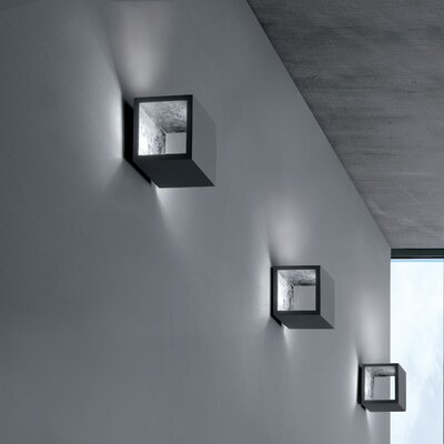 Semi 1-Light LED Flush Mount Fixture Finish: Titanium/Silver Leaf