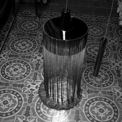 1-Light Foyer Pendant Finish: Chrome/Black