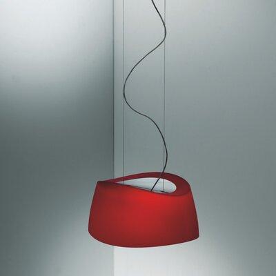 Aero 2-Light Drum Pendant Shade Color: Red