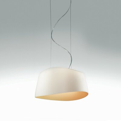 Aero 2-Light Drum Pendant Shade Color: Combination of White and Amber