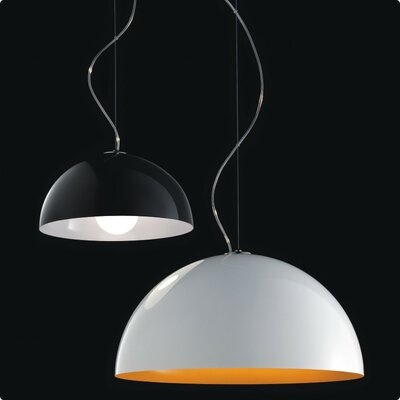 Anke 1-Light Inverted Pendant Size/Bulb Type: 13.5 Diameter/60W Incandescent, Color: White/White Metal