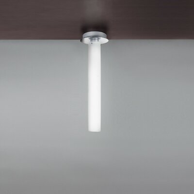 Olly Flush Mount in Aliminum Size: 20 H x 6.25 W / 1 x 36W CFL