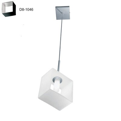 Domino 1-Light Mini Pendant Finish: Metallized Gray/Black Brown, Size: 11.5 H x 3.5 W x 5.5 D
